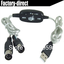 USB to Midi cable with Lastest version built-in driver(China)