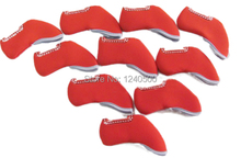 10 pcs Red color Branded Golf Iron Head Covers HeadCovers