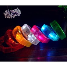 Led Shaking Flashing Bracelet Light Up Bangle Wristband Night Club Activity Party Bar Disco Music Concert Cheer