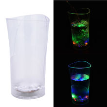 1Pc Acrylic Wine Led Lighting Up With Water Cups LED Mugs Wineglass Water Induction Led Flash Cup Vase  For Party Supply