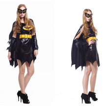 Movie The Avengers Woman Batman Cosplay Halloween Costumes Holiday Festival parade Masquerade Carnival masked ball party dress