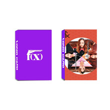 Youpop KPOP FX F(X) Krystal Red Light Album LOMO Cards K-POP New Fashion Self Made Paper Photo Card HD Photocard LK355
