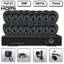 1080P HDMI 16CH D1 400/480FPS H.264 Securty 700TVL Camera Network DVR System(China)