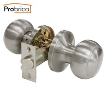 Probrico Wholesale 10 PCS Passage Keyless Door Lock DL609SNPS Stainless Steel Satin Nickel Door Knob Handle For Interior Doors