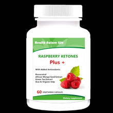 Raspberry Ketones Plus+ Advanced Antioxidant Blend with Green Tea for Weight Loss, 60 count