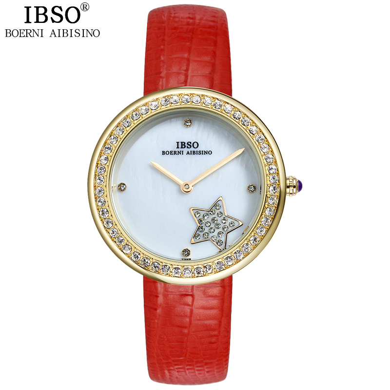 IBSO Party Fashion Diamond Leather Band Watch Women Outdoor Beautiful New Design Women To Watch Office Leisure Reloj Mujer 2016<br><br>Aliexpress