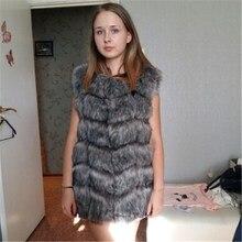 High quality Fur Vest coat Luxury Faux Fox Warm Women Coat Vests 2017 Winter Fashion furs Women's Coats Jacket Gilet Veste 4XL