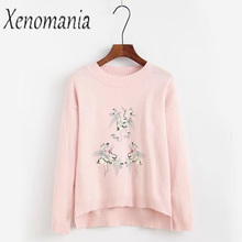 Ugly Christmas Sweater Women Sweaters And Pullovers Jersey Mujer Invierno Pink Pullover Oversized Jumper Knitted Pull Femme Unif