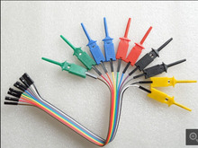10pcs 5 color Test Hook Clips for Logic Analyser SMT TEST IC + dupont cable