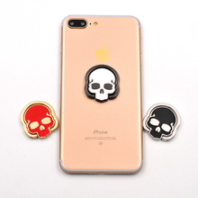 Skeleton Skull 360 Degree Rotate freely Ring Stand Holder Pop finger Mobile Phone Kickstand Universal all Smartphone Mount