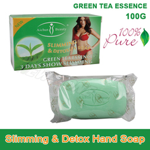 100% Pure Green Tea Essence Lose Weight Loss Slimming & Detox Body Soap Fat Burn Effective slim cream best partner product 100g