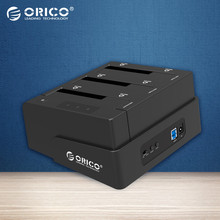 ORICO USB 3.0 to SATA 3 Bay External HDD Docking Station for 2.5 & 3.5 inch HDD / SSD With 3bays Cloner Function[8TB*3 Support](China)
