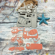 New Metal Transport Series Car Family Cutting Dies Embossing Stencil Handmade Craft For Cards Album Scrapbooking DIY Decoration