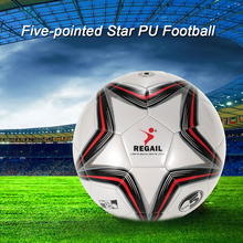 New PU Inflatable Football Durable Synthetic Leather Soccer Ball Outdoor Sport Training Balls Teenager Game Soccer Training(China)