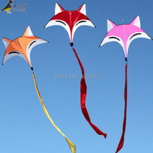 Free Shipping Outdoor Fun Sports Weifang Kite Fox Kite High Quality Umbrella Carbon Rod Animal Kite New Arrival Flying(China)