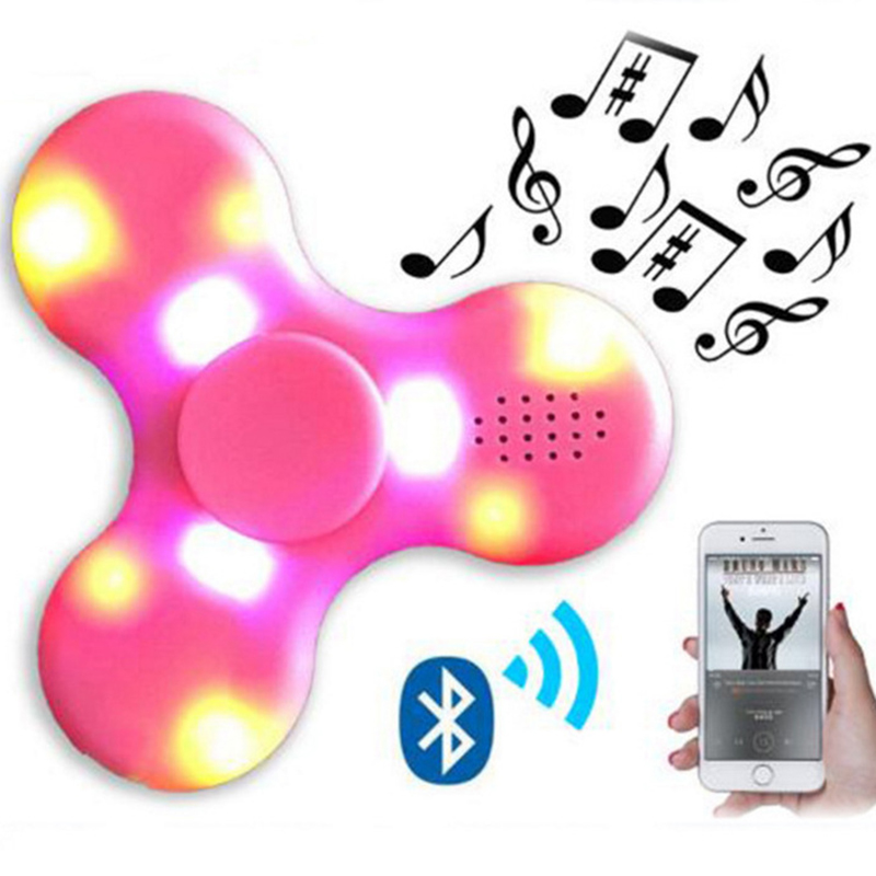 2017 New Bluetooth Speaker Finger Fidget Music Spinner with luminous led lights Antistress Funny hand skinner toy for Kid Adult(China (Mainland))