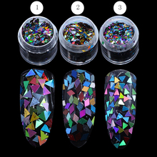 1 Box 2mm Rhombus Paillette Dazzling Mixed Diamond Sticker Tips Nail Sequins Sparkling Colorful Glitter Nail Art Decoration(China)