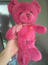 about 35cm cartoon hot pink teddy bear plush toy soft bear doll birthday gift b2079(China)