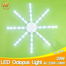 20W LED Ceiling Lamp Modified Light Source Lamp Plate Octopus 5730SMD White for Round Kitchen Bedroom Accessory Absorb Replace(China)