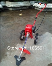 4 stroke gasoline petrol wheel brush cutter grass cutter trimmer handle mower,hand push cleaner wheeled string trimmer