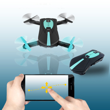 Portable JY018 Foldable Mini Selfie Drone Pocket Folding Quadcopter Altitude Hold Headless WIFI FPV Camera RC Helicopter VS H31(China)