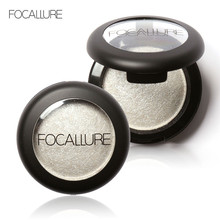 FOCALLURE Eyeshadow Makeup Shimmer Eye Shadow Palette Professional Single Color Make Up Baked Eyeshadow Powder Cosmetic #235547(China)