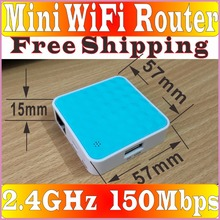 English Firmware 150Mbps Mini Router Pocket WiFi Wireless-N AP Router Static IP/DHCP/PPPOE(ADSL) Wireless Router, FreeShip Prom-(China)