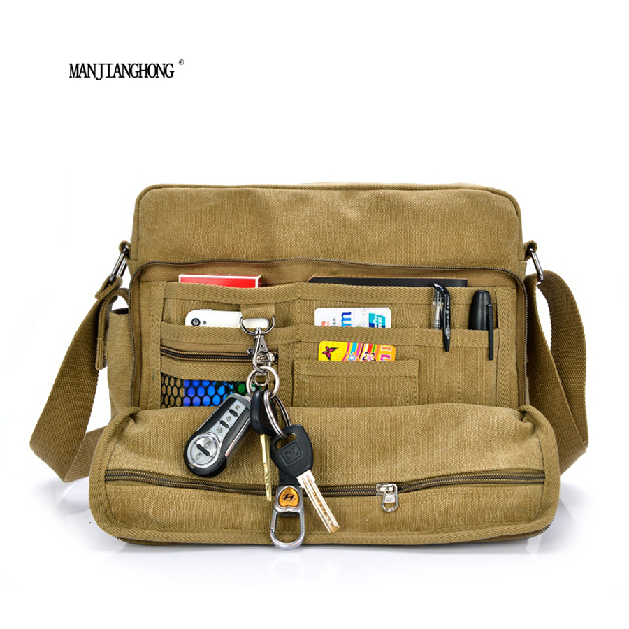 Multifunction Mens Messenger Bags Men Canvas Bag handbag Casual Travel  Mens Crossbody Shoulder Bag<br>