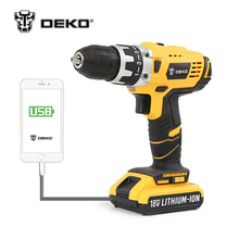 DEKO 18V DC New Design Mobile Power Supply Lithium Battery Cordless Drill Power Tools Mini Drill dremel