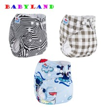 10 PCS Babyland Pocket Cloth Diaper Covers All Kinds New Prints Potty Night and Day Cloth Diapers(China)