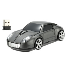 2.4GHz Wireless Mouse/Mice Racing Car Shaped Optical USB Mouse 3D Buttons 1000 DPI/CPI Computer Gaming Mouse for PC Laptop Gamer