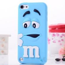 Fragrance M&M'S Chocolate 3D Cartoon Candy Colorful Rainbow Beans Soft Rubber Silicone Case Cover for iPhone 5 5s SE 5SE