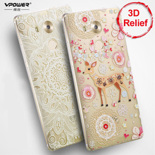 for huawei mate 8 3D Relief tpu cartoon Case Vpower Case Cover for huawei mate8 Phone Cover Case+finger ring holder