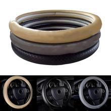 Genuine Leather Car Auto Steering Wheel Braid Handlebar Cover Car-Styling Car Auto Leather steering wheel Cover