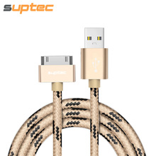 USB Cable for iPhone 4 4s iPad 2 3 New iPad iPod 30 Pin Nylon Braided Wire Metal Plug Data Sync USB Charger Cable Charging Cord