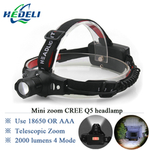2016 Various Lights New Outdoor Mining Cree Q5 Lamp LED Headlamp 18650 Zoomable Miner Lantern Head Torch Headlight Flashlight(China)