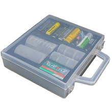 Multifunction Clear Plastic Healthy Case Storage Box Holder Container For AA AAA C D Battery