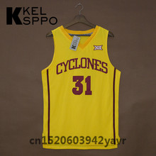 Custom Adult Throwback Basketball Jerseys #31 Georges Niang Iowa state Embroidered Basketball Jersey Size XXS-6XL(China)