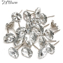 20Pcs New Diamond Pattern Crystal Upholstery Nails Button Tacks Studs Pins 20mm Dia Sofa Wall Decoration Furniture Accessories
