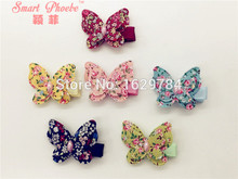 Wholesale 30pcs/6C Fashion Cute Floral Butterfly Girls hairpin Solid Kawaii Animal Hair Clips Kids Hair Accessories Headware