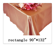 "Free shipping rectangle tablecloth size 90""*132"" color dusty rose for wedding decoration /table cloth"