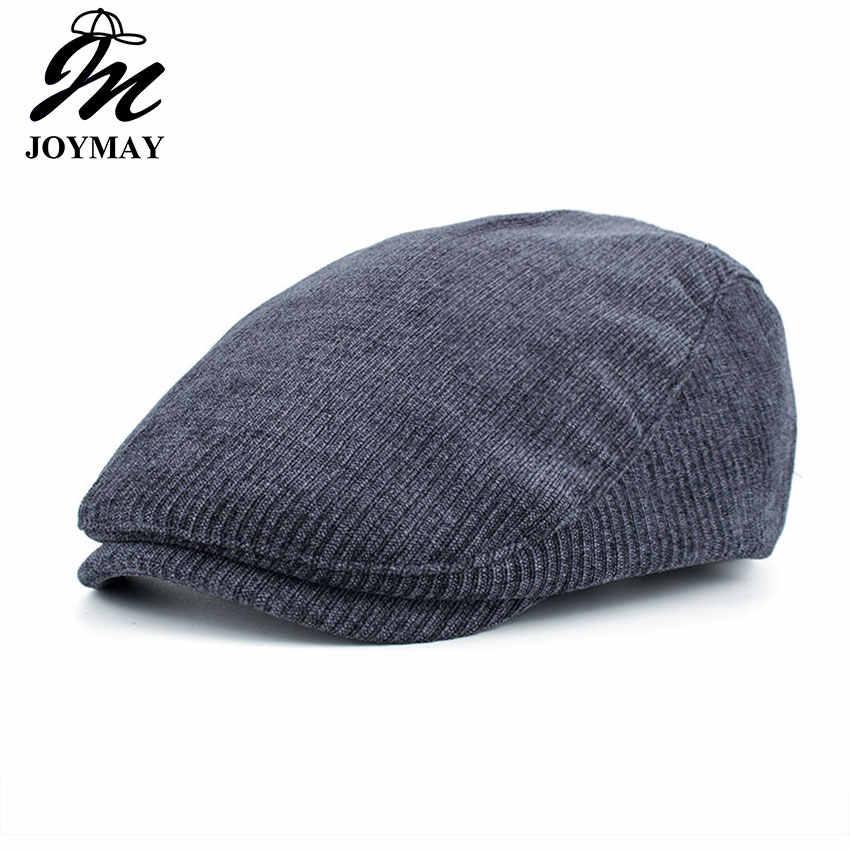 JOYMAY nuevo algodón de invierno gorras para hombres Casual Peaked Caps  boinas sombreros Casquette Cap Y034 46ee89c5c90