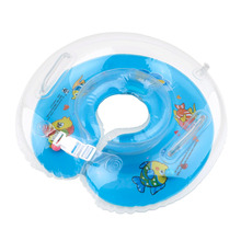 1pcs Tube Swimming Ring Safety Baby Aids Infant Swimming Neck Float Inflatable Color send random for 1-18 months