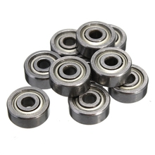 HOT10Pcs 623ZZ Bearing 623-ZZ 3x10x4mm Miniature Deep Groove Ball Bearing  Shielded Silver Chrome Steel Shafts