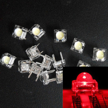 10pcs 5mm F5 LED Piranha Red Super Flux Transparent 5 mm Ultra Bright Clear Lens LED Light Emitting Diode Lamp Through Hole