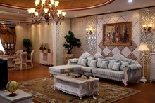 american living room funiture for chaise lounge/ reclining sectional sofa/ L shaped sofas with cheap price(China)