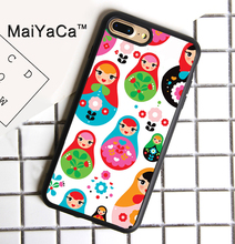 MaiYaCa Russian Dolls Soft TPU Case For iPhone 7 Plus Cover Fashion Hard Plastic Phone Coque Capa