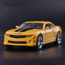 1:32 Diecast Model Alloy Metal Chevrolet Camaro Bumblebee Model with Sound & Light Boy Toy Car Pull Back Vehicle Car Kids Toys