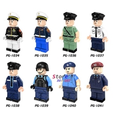 80pcs super heroes Marvel Special Duties Unit Marine Corps Policeman collectible model building blocks friend toys for children