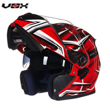 New Arrivals VOX moto Flip Up Motorcycle Modular Helmet With Inner Sun Visor safety double lens racing motos casco capacete